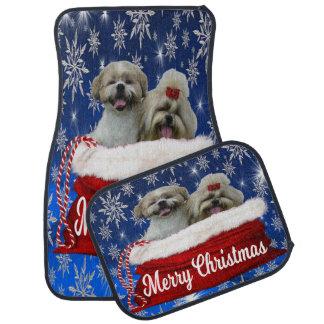 Shih tzu Car Mat, Christmas Car Mat