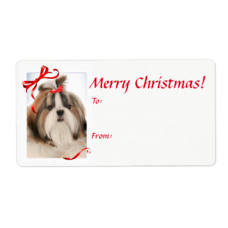 Shih Tzu Christmas Gift Stickers