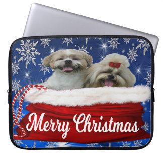 Shih tzu Christmas Laptop Sleeve, Dog Laptop Sleeve