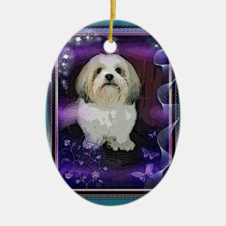 Shih Tzu Christmas Ornament