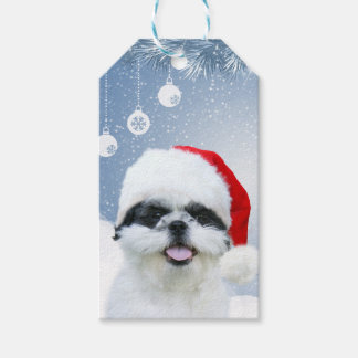 Shih Tzu Christmas Pack Of Gift Tags