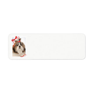 Shih Tzu Christmas Return Address Labels