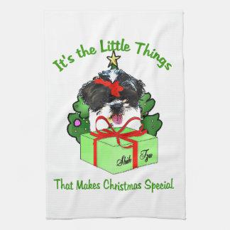 Shih Tzu Christmas Towels