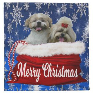 Shih tzu Cloth Napkin Christmas