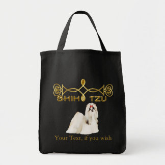 Shih Tzu Customizable Grocery Tote