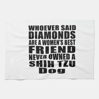 SHIH TZU DOG BEST FRIEND DESIGNS HAND TOWEL