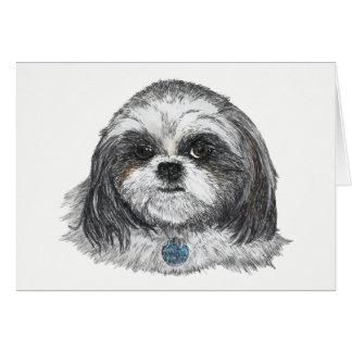 Shih Tzu Dog Blank Card