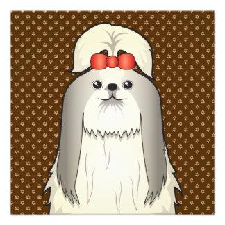 Shih Tzu Dog Cartoon Paws Photo Print