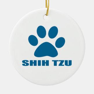 SHIH TZU DOG DESIGNS CERAMIC ORNAMENT