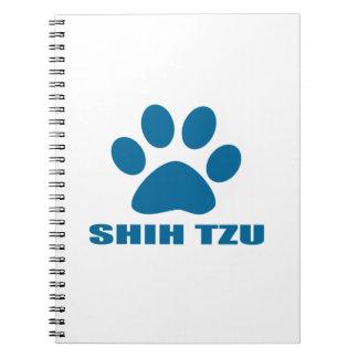 SHIH TZU DOG DESIGNS NOTEBOOK