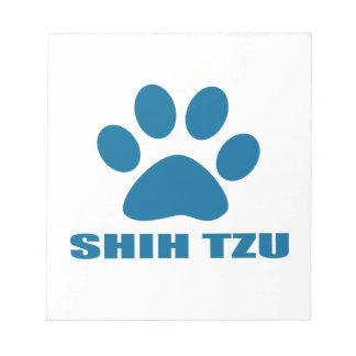 SHIH TZU DOG DESIGNS NOTEPAD