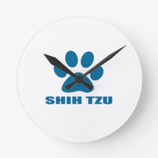 SHIH TZU DOG DESIGNS ROUND CLOCK