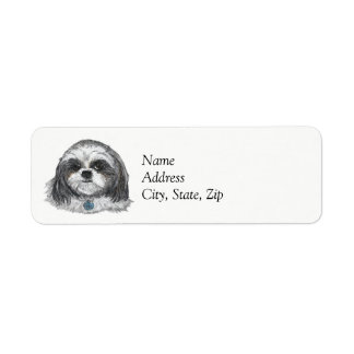Shih Tzu Dog Return Address Label