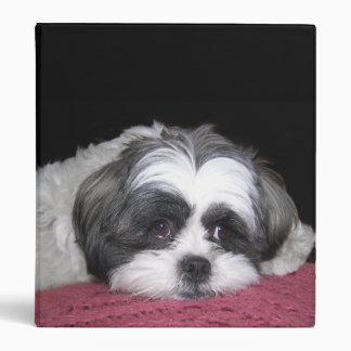 Shih Tzu Dog Vinyl Binder