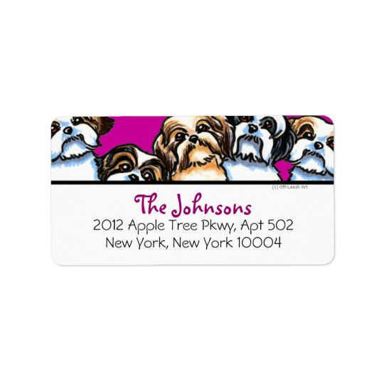 Shih Tzu Dogs Girly Font Custom Colour