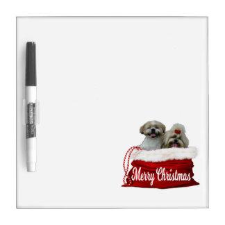 Shih tzu Dry Erase Board Christmas