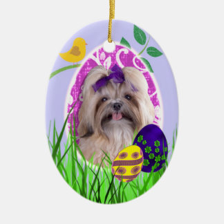 Shih Tzu Easter Ornament
