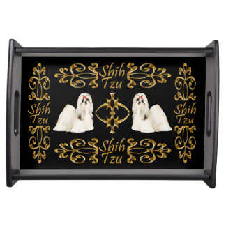Shih Tzu Elegance Serving Tray
