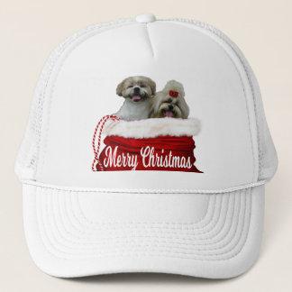 Shih tzu Hat, Christmas Trucker Hat