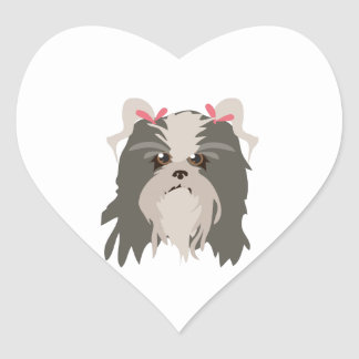 Shih Tzu Heart Sticker