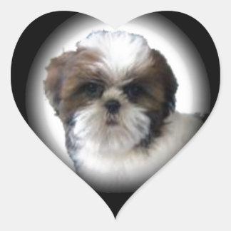 Shih-Tzu Heart Sticker