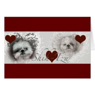 Shih-Tzu Hearts Greeting Card