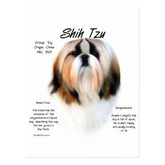 Shih Tzu History Design Postcard
