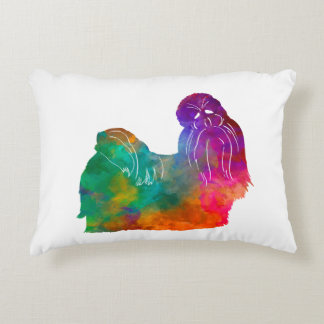 Shih Tzu in watercolor Decorative Pillow