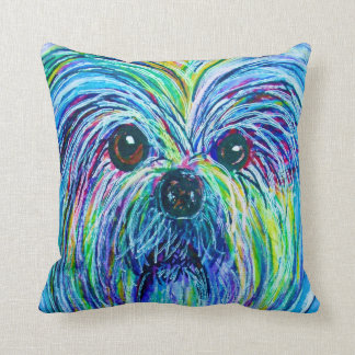 Shih Tzu Intense Colors Throw Pillow