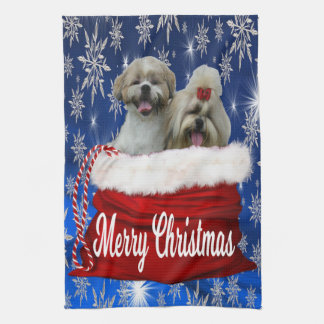 Shih tzu Kitchen Towel Christmas