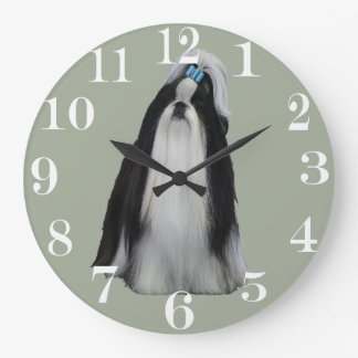 SHIH TZU LARGE CLOCK