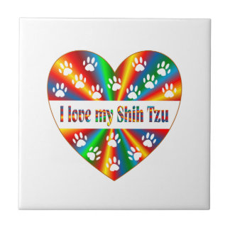 Shih Tzu Love Ceramic Tile