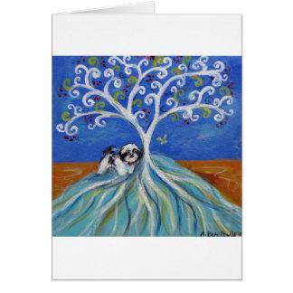 Shih Tzu Love Spritual Tree Card