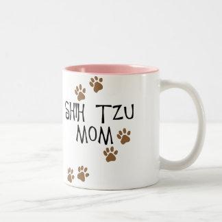 Shih Tzu Mom Two-Tone Coffee Mug