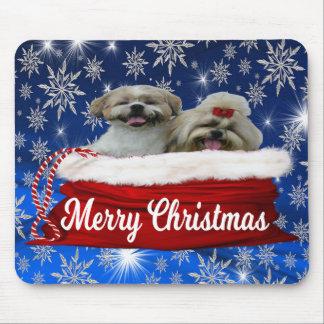 Shih tzu Mousepad, Christmas Mouse Pad