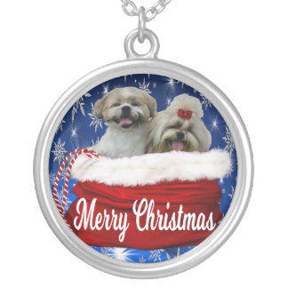 Shih tzu Necklace Christmas