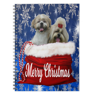 Shih tzu Notebooks, Christmas Notebook