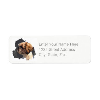 Shih Tzu Original Art Return Label Return Address Label
