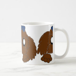 shih tzu peeking liver coffee mug