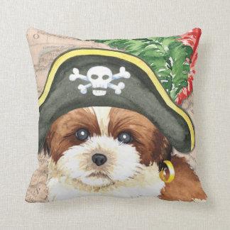 Shih Tzu Pirate Throw Pillow