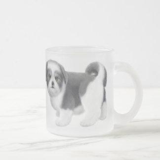 Shih Tzu Puppy Frosted Glass Mug