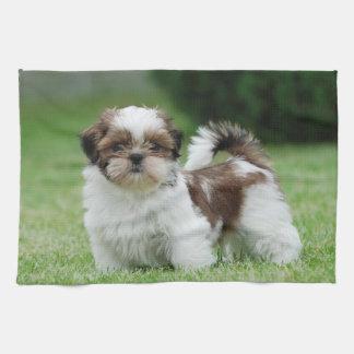 Shih tzu puppy hand towels