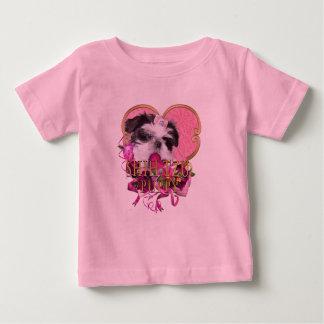 Shih Tzu Puppy In Pinks & Purples Baby T-Shirt