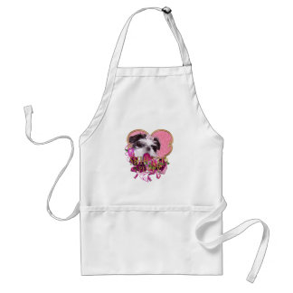 Shih Tzu Puppy In Pinks & Purples Standard Apron