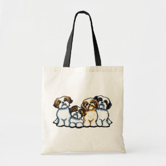 Shih Tzu Quartet Tote Bag