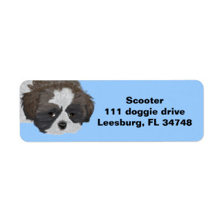 Shih Tzu Return Address Label