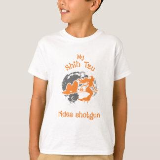 Shih Tzu Rides Shotgun Halloween Costume T-Shirt