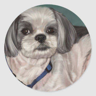 Shih Tzu Round Sticker