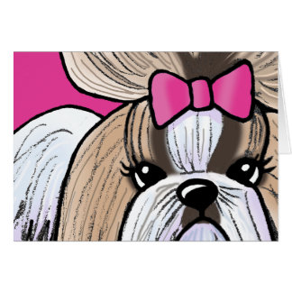 Shih Tzu Show Girl Card