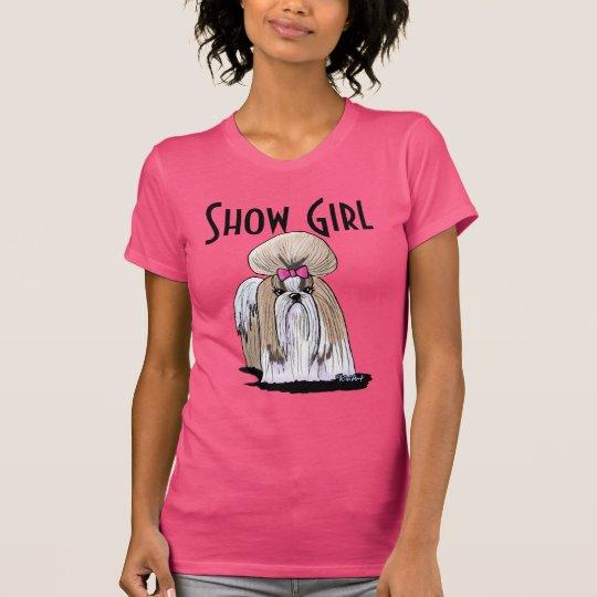 Shih Tzu Show Girl T-Shirt